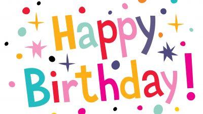 Birthday, Colourful, Happy