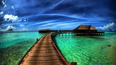 Beach, Clouds, Full Hd, Water