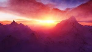 Clouds, Dawn, Hd, Mountain, Photo