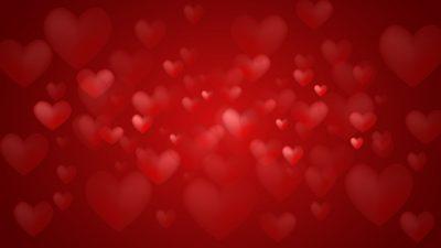 3d, Art, Heart, Red, Wallpaper