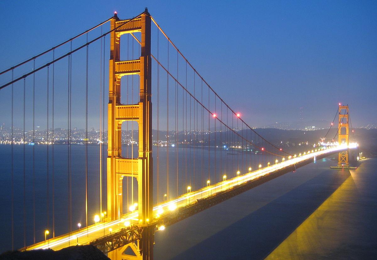 Bridge, Gate, Golden, Hd, Lights