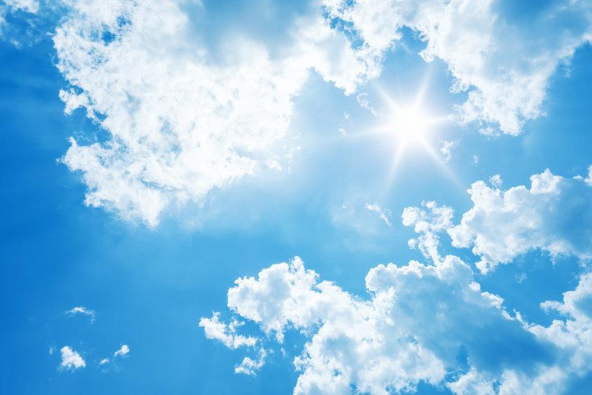 Blue Sky, Hd, Sunlight, White Clouds
