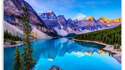 Blue, Landscape, Mountains, Nature, Water