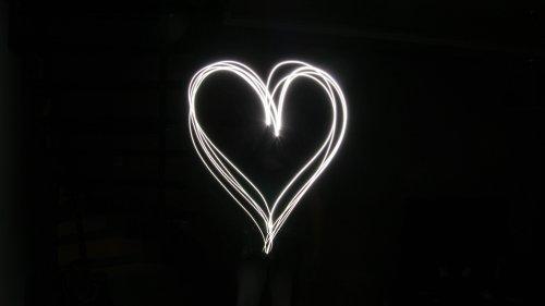 Background, Black, Digital, Heart, White