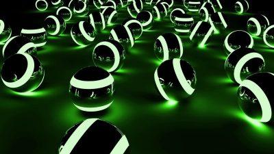 Balls, Digital, Green, Hd, Wallpaper