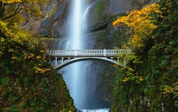 Bridge, Cool, Image, Natural, Waterfall