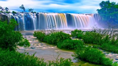 Digital, Natural, Waterfall, Widescreen