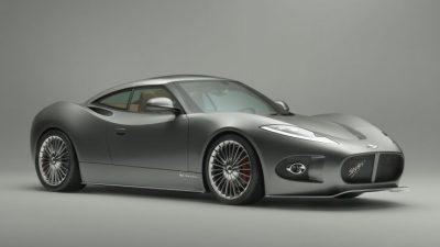 Car, Grey, Spyker B, Wallpaper