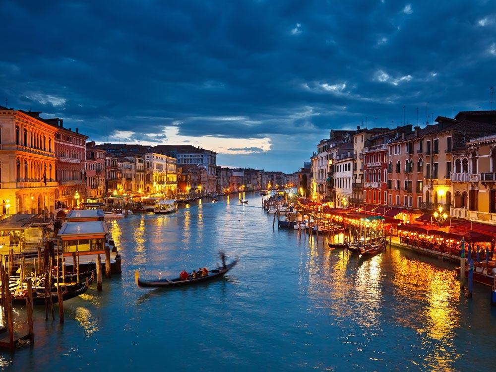 Canal, Grand, Hd, Lights, Night View, Wallpaper