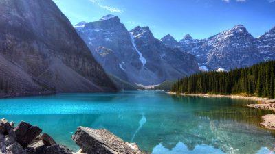 Beautiful, Blue, Lake, Mountains, Water