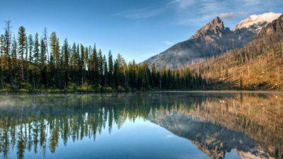 Desktop, Lake, Mountains, Wallpaper, Widescreen