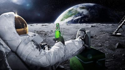 1080p, Hd, Man, Moon, Wallpaper