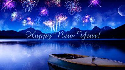 Blue, Fireworks, Happy, Hd, Wallpaper, Year