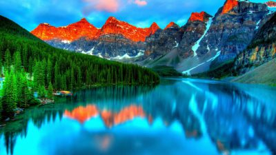 Beautiful, Mountain, Natural, Sea, Wallpaper