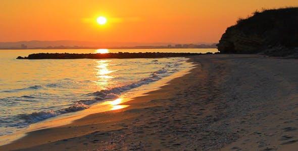 Beach, Cool, Nature, On, Sunset, Wallpaper