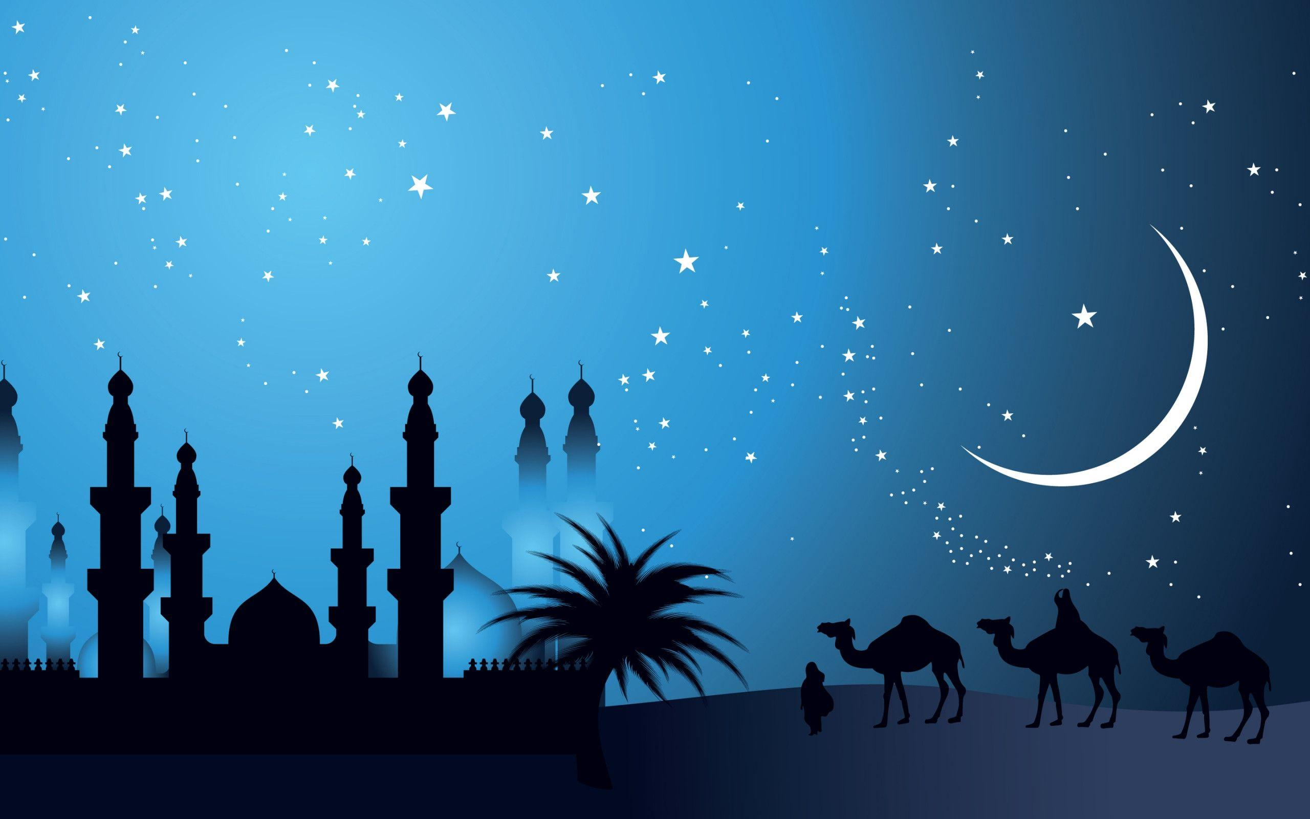 3d, Image, Islamic, Moon, Mosque, Nature, Nice
