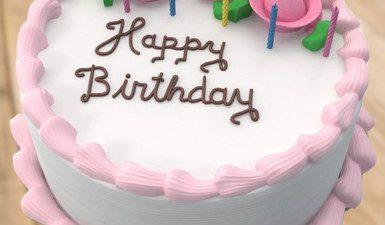 3d, Birthday, Cake, Wallpaper