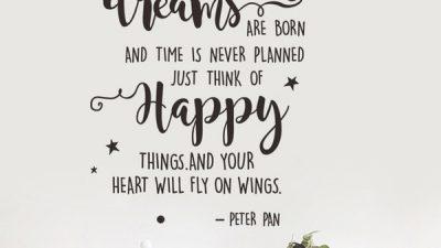 Born, Dreams, Peter Pan, Saying, Wings