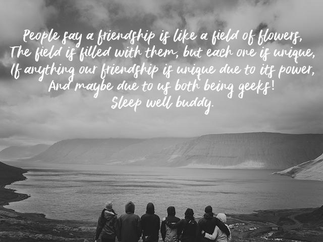 Good Night Poem Background