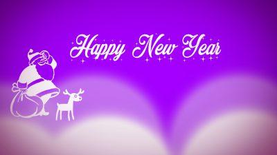 Background, Happy, New, Purple, Year