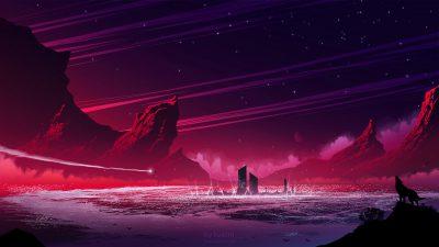 Art, Background, Hd, Purple, Super