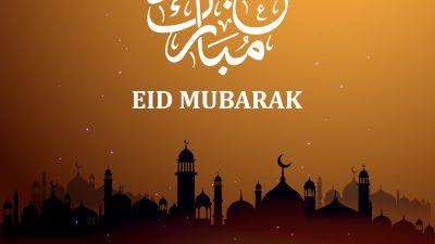 Beautiful, Card, Eid, Hd, Mosque, Mubarak