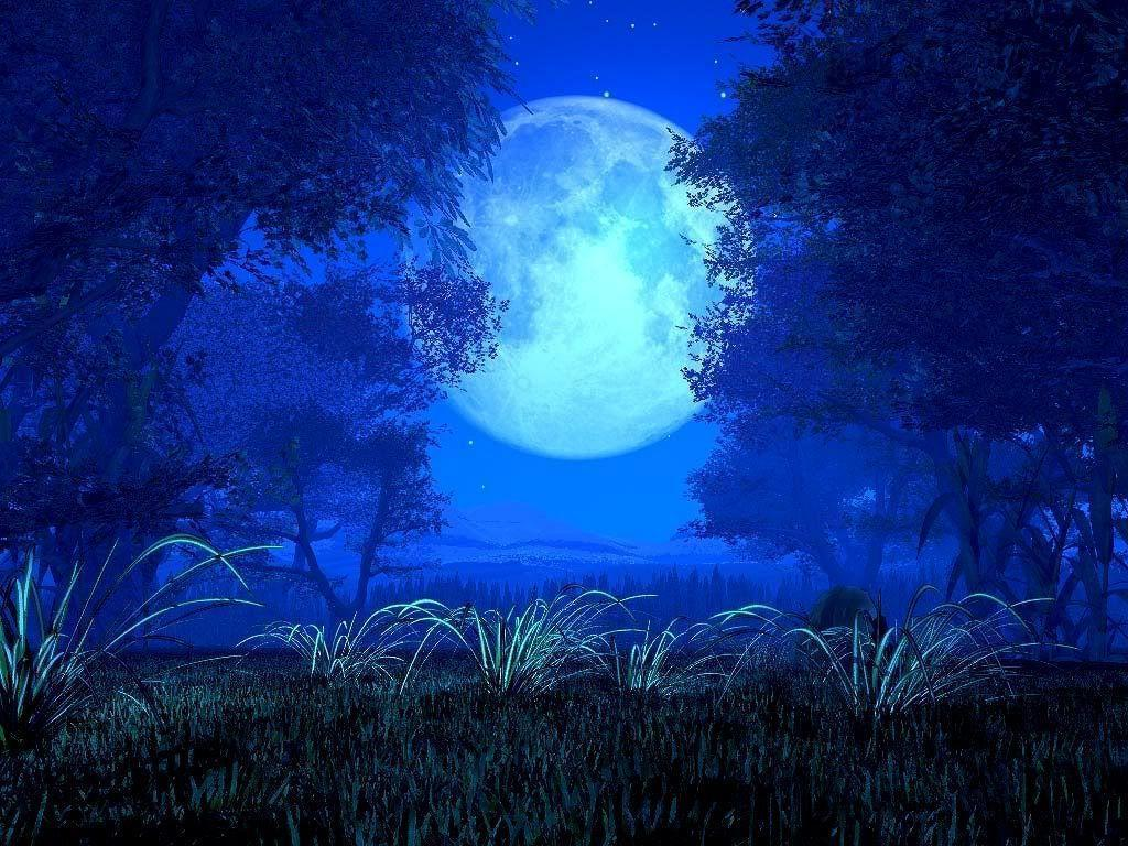 Blue Moon Background