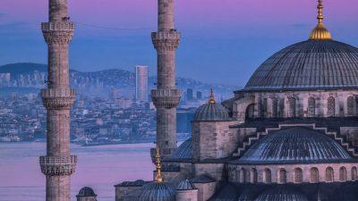 Beautiful, Colorful, Desktop, Mosque, Wallpaper