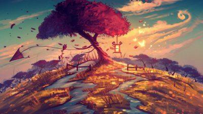 Animated, Artisitc, Desktop, Tree, Wallpaper