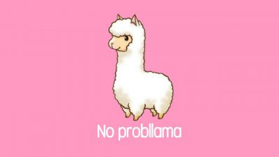Background, Full, Image, Llama, Pink, Top