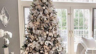 Beautiful, Christmas, Tree, Wallpaper, White