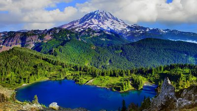 Beautiful, Clouds, Grass, Green, Mountain, Wallpaper