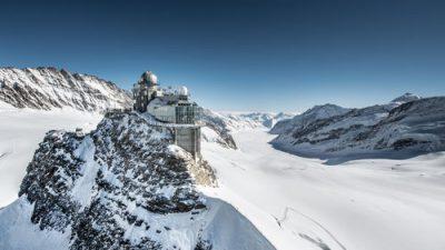Elegant, Jungfraujoch, Natural, Saddle, Snowfall, Widescreen