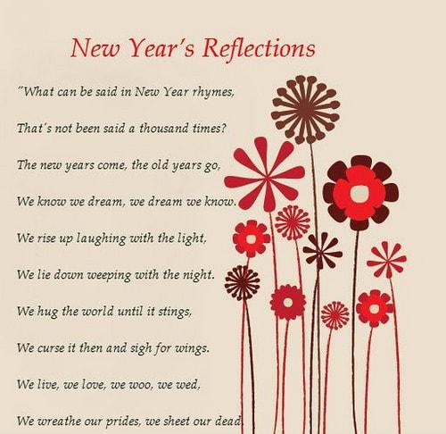 New Years Poem Image