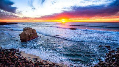 Clouds, Natural, Sea, Sundown, Wallpaper, White