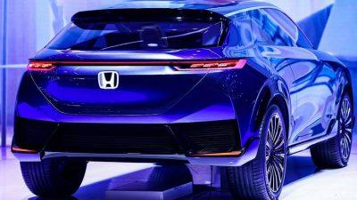 Blue, Car, Concept, E, Honda, Image, SUV
