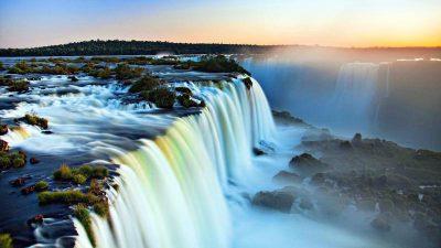 Cool, Natural, Niagara, Sundown, Wallpaper