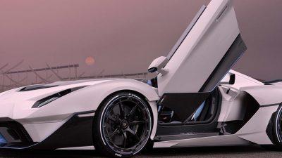 Car, Image, Lamborghini, SC20, Super, White