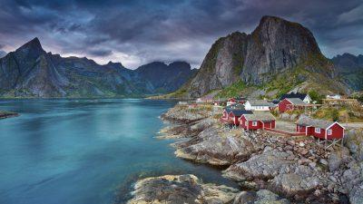 Beautiful, Clouds, Darkness, Lofoten, Wallpaper