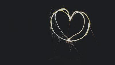Digital, Hd, Heart, Light, Wallpaper