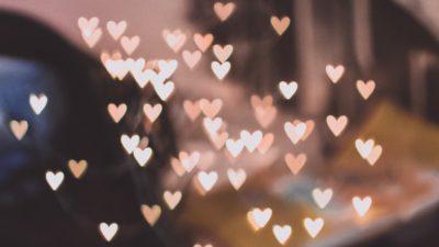 Digital, Hd, Hearts, Lights, Wallpaper