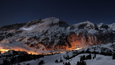 Amazing, City, Mountains, Night, Wallpaper