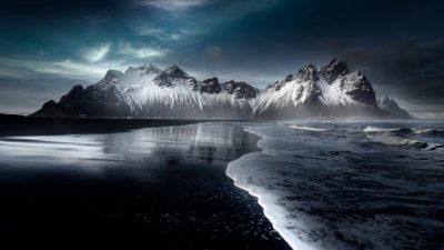 Beautiful, Iceland, Mountain, Natural, Sea, Wallpaper