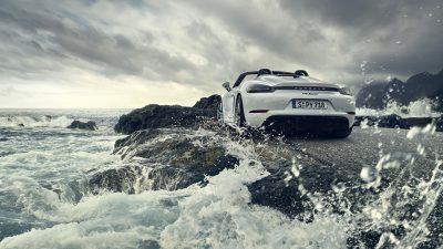 718, Clouds, Free, Image, Porsche, Spyder, Water