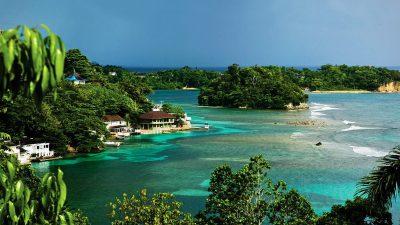 Beach, Houses, Jamaika, Tree, Wallpaper