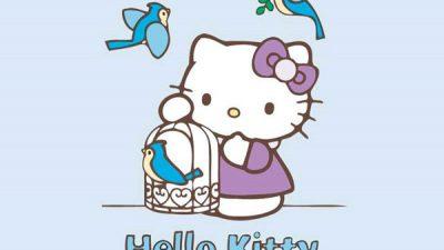 Blue, Hd, Hello, Image, Kitty