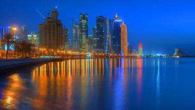 Blue, Landscape, Natural, Qatar, Sky, Wallpaper