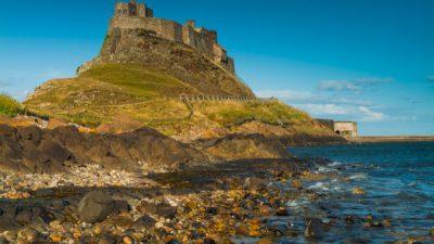 Castle, Desktop, Lindisfarne, Natural, Nice, View