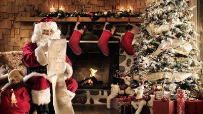 Christmas, Clous, Hd, Image, Santa