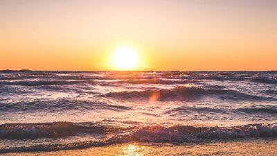 Landscape, Nature, Seaside, Sundown, Wallpaper